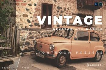 Vintage Desktop and Mobile Lightroom Preset 26MT5K5 2