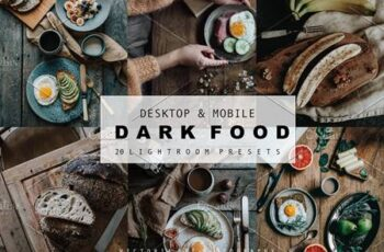 DARK FOOD LIGHTROOM PRESETS 6103752 3