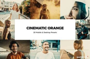 20 Cinematic Orange Lightroom Presets & LUTs UJWRY92 7