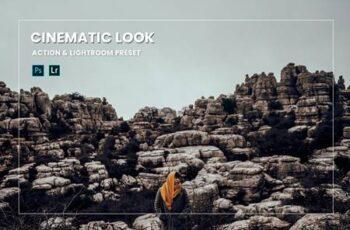 Cinematic Look Effect Action & Lightroom Preset EMVRAFP 6