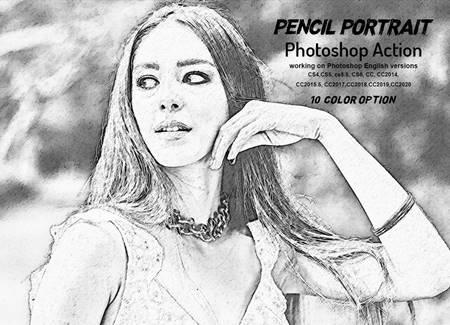 Pencil Portrait Photoshop Action 5950969 17