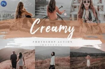5 Creamy Photoshop Actions, ACR and LUT 4138536 11