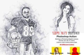 Line Art Sketch Photoshop Action 5866778 2