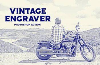 Vintage Engraver - Photoshop Action 6107789 2