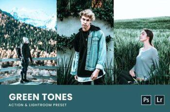 Green Tones Photoshop Action & Lightrom Presets L8DJYMU 4