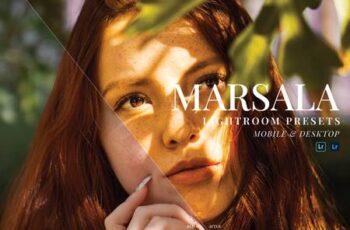 Marsala Mobile and Desktop Lightroom Presets C9SRHHM 5