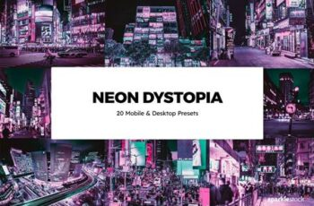 20 Neon Dystopia Lightroom Presets & LUTs F6LYTY4 5