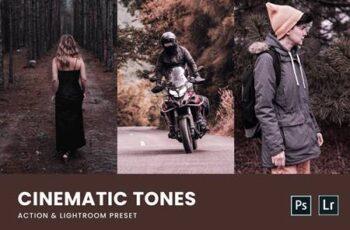Cinematic Tone Photoshop Action & Lightrom Presets CQZFFS2 7