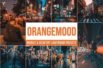 Orange Mood Mobile and Desktop Lightroom Presets WGVJMCJ 4