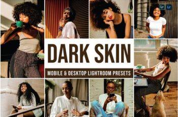 Dark Skin Mobile and Desktop Lightroom Presets QZY3VU7 3