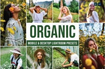 Organic Mobile and Desktop Lightroom Presets C729X8W 3