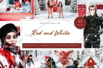 12 x Lightroom Presets Red and White 5962768 4