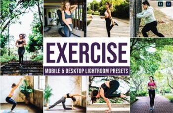 Exercise Mobile and Desktop Lightroom Presets 6PZTLVY 7
