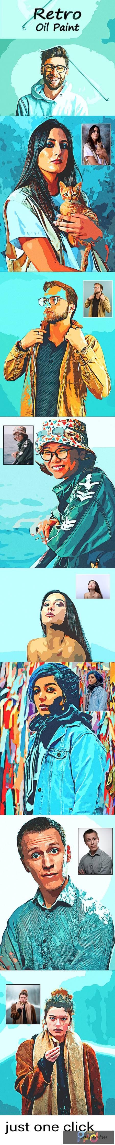 Retro Oil Paint - Photoshop Action 30503868 1