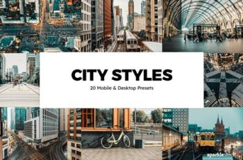 20 City Styles Lightroom Presets & LUTs CLRJRGT 4