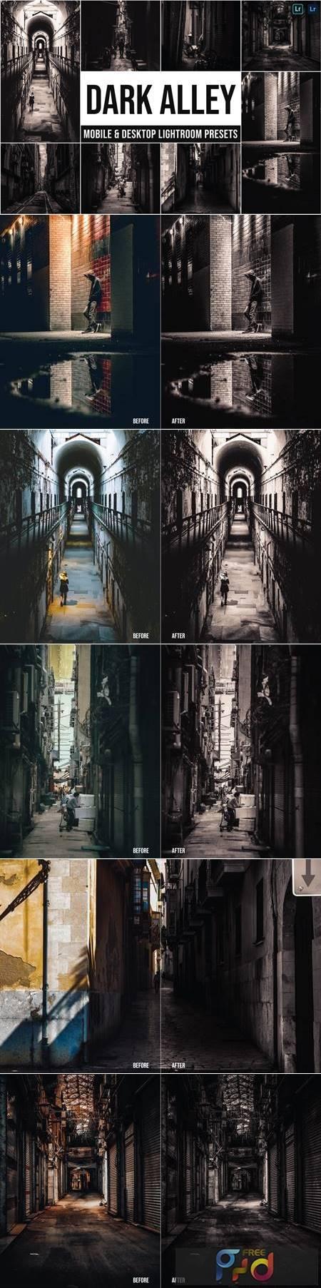 Dark Alley Mobile and Desktop Lightroom Presets RRVRYZX 1