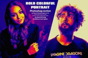 Bold Colorful Portrait PS Action 5890716 6