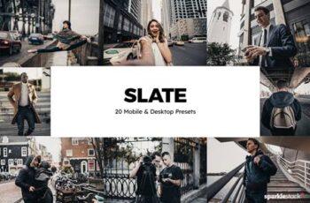 20 Slate Lightroom Presets & LUTs NT47HEV 5