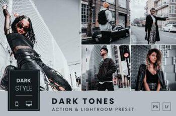 Dark Tones Action & Lightroom Preset 9DR6GPK 7