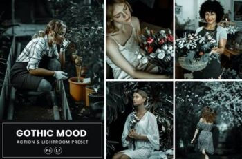 Gothic Mood Photoshop Action & Lightrom Presets 6GKPFT2 6