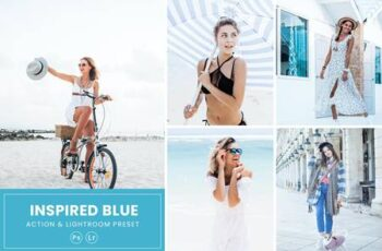 Inspired Blue Photoshop Action & Lightrom Presets SBUP6XL 4