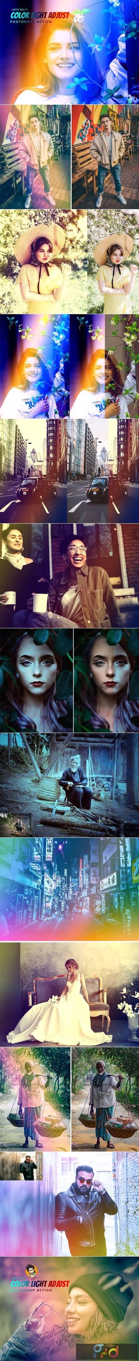Color Light Adjust Photoshop Action 5806424 1