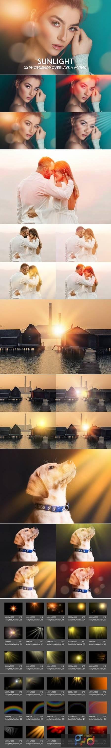 Realistic Sunlight Overlay Photoshop Action RTCFYJF 1