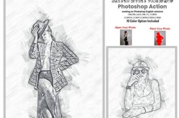 Sketch Drawing Effect PS Action 5903092 8
