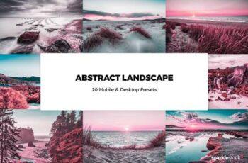 20 Abstract Landscapes Lightroom Presets & LUTs LX98KFE 4