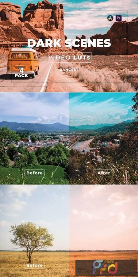 Bangset Dark Scenes Pack 4 Video LUTs - GraphicUX