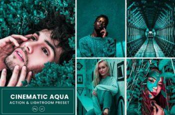Cinematic Aqua Action & Lightrom Presets C8WGUWV 7