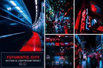 Futuristic City Action & Lightrom Presets QLJAHYP 2