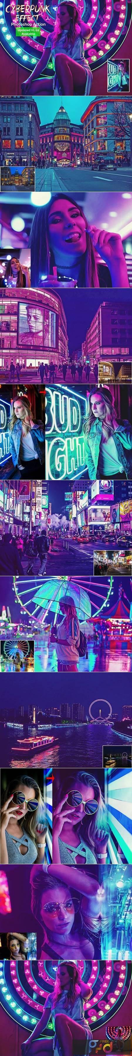 Cyberpunk Effect Photoshop Action 5106456 1