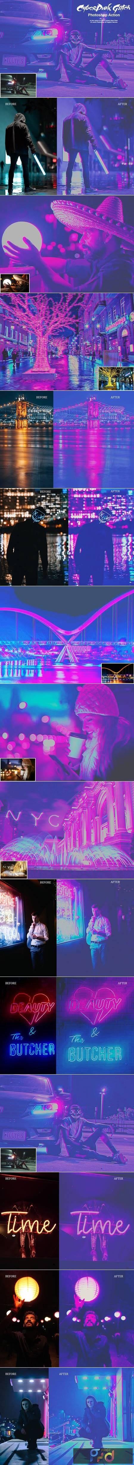 CyberPunk Glitch Photoshop Action 5302804 1