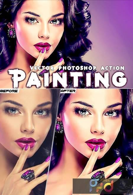 Painting Photoshop Action D8WTN7C 1