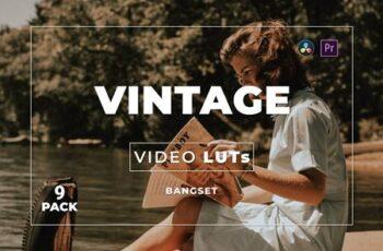 Bangset Vintage Pack 9 Video LUTs 2U6MAA7 4