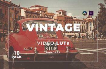 Bangset Vintage Pack 10 Video LUTs 8W4UFVC 3