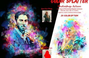 Color Splatter Photoshop Action 5976636 5