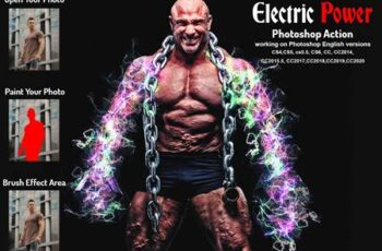 Electric Power Photoshop Action 5960125 4