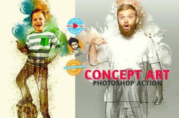 Concept Art Photoshop Action 6273516 2