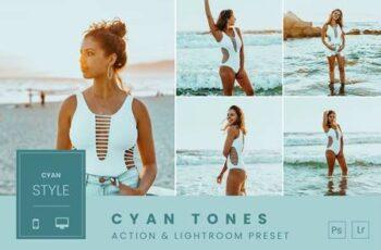 Cyan Tones Action & Lightroom Preset FRY58X2 2