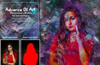Advance Oil Art Photoshop Action 5362565 5