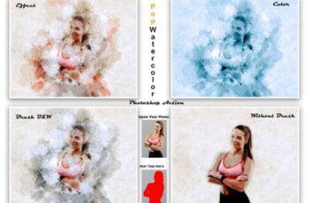 Pop Watercolor Photoshop Action 5561304 2