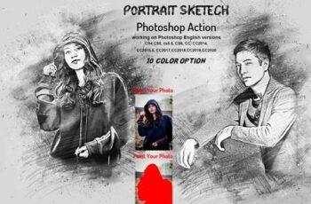 Portrait Sketch Photoshop Action 6176158 3