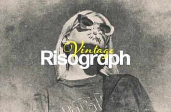 Vintage Risograph Photo Effect LWFG3EJ 6