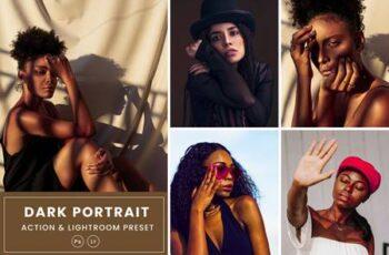 Dark Portrait Action & Lightrom Presets RNBPH84 3