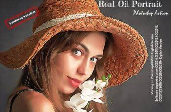 Real Oil Portrait PS Action V -4 6247792 5