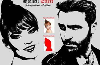 Stencil Effect Photoshop Action 6276593 4