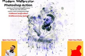 Modern Watercolor Photoshop Action 5741401 5