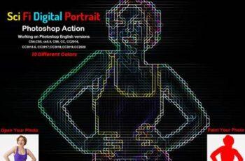 Sci-fi Digital Portrait PS Action 5904897 1